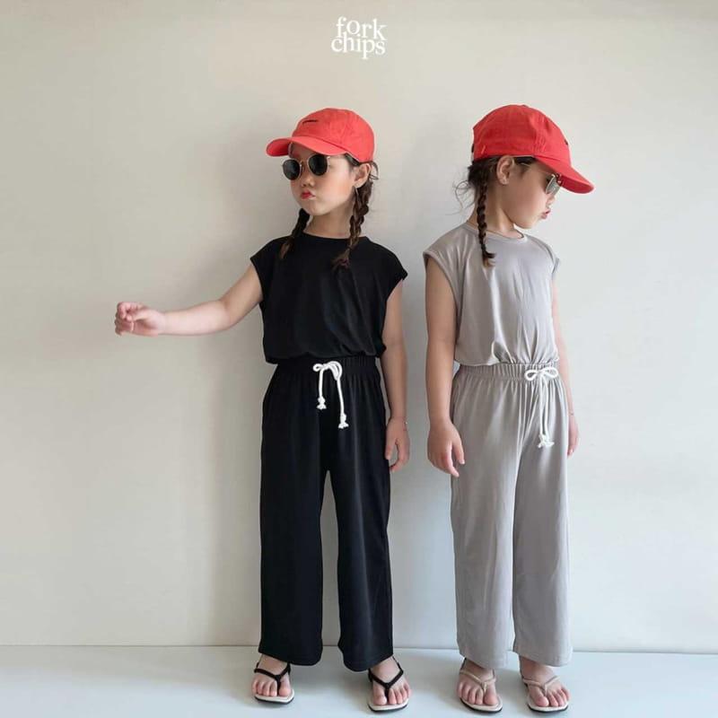 FORK CHIPS - Korean Children Fashion - #Kfashion4kids - Softly Top Bottom Set - 12