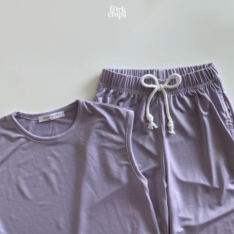 FORK CHIPS - Korean Children Fashion - #Kfashion4kids - Softly Top Bottom Set - 7