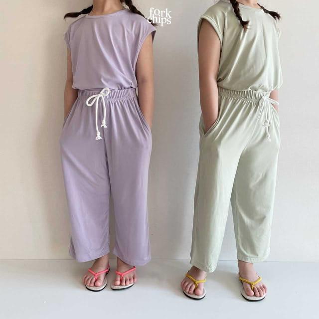 FORK CHIPS - BRAND - Korean Children Fashion - #Kfashion4kids - Softly Top Bottom Set