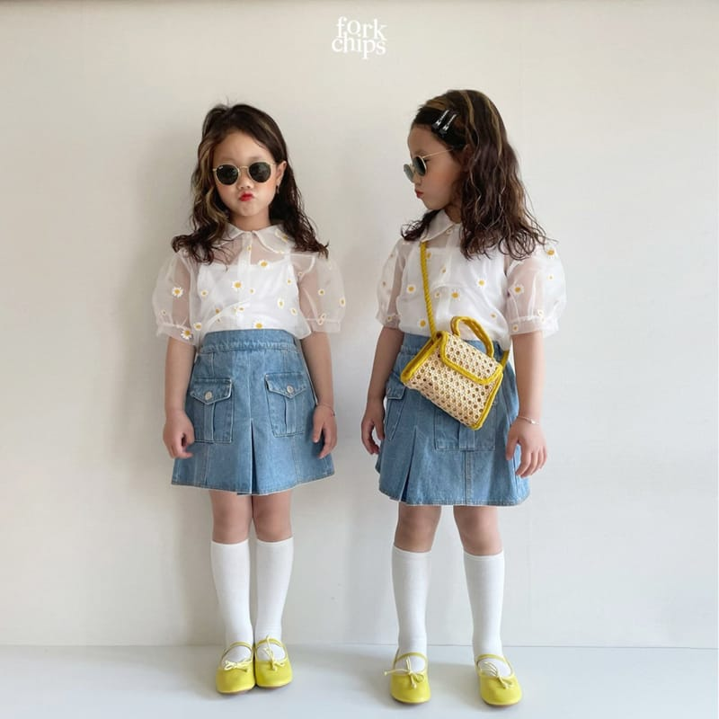 FORK CHIPS - Korean Children Fashion - #Kfashion4kids - Dandelion Blouse - 10