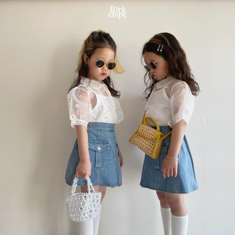 FORK CHIPS - Korean Children Fashion - #Kfashion4kids - Dandelion Blouse - 11
