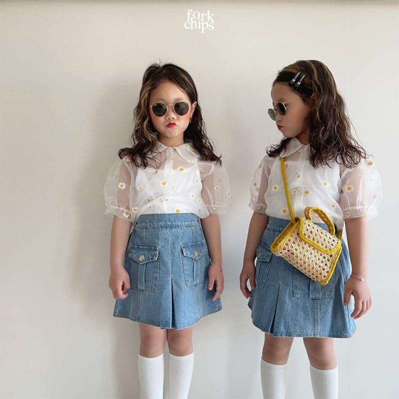 FORK CHIPS - Korean Children Fashion - #Kfashion4kids - Dandelion Blouse - 9