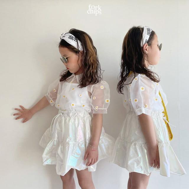 FORK CHIPS - BRAND - Korean Children Fashion - #Kfashion4kids - Dandelion Blouse
