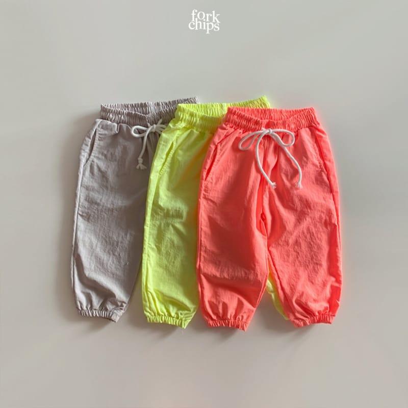 FORK CHIPS - Korean Children Fashion - #Kfashion4kids - Crack Jogger Pants