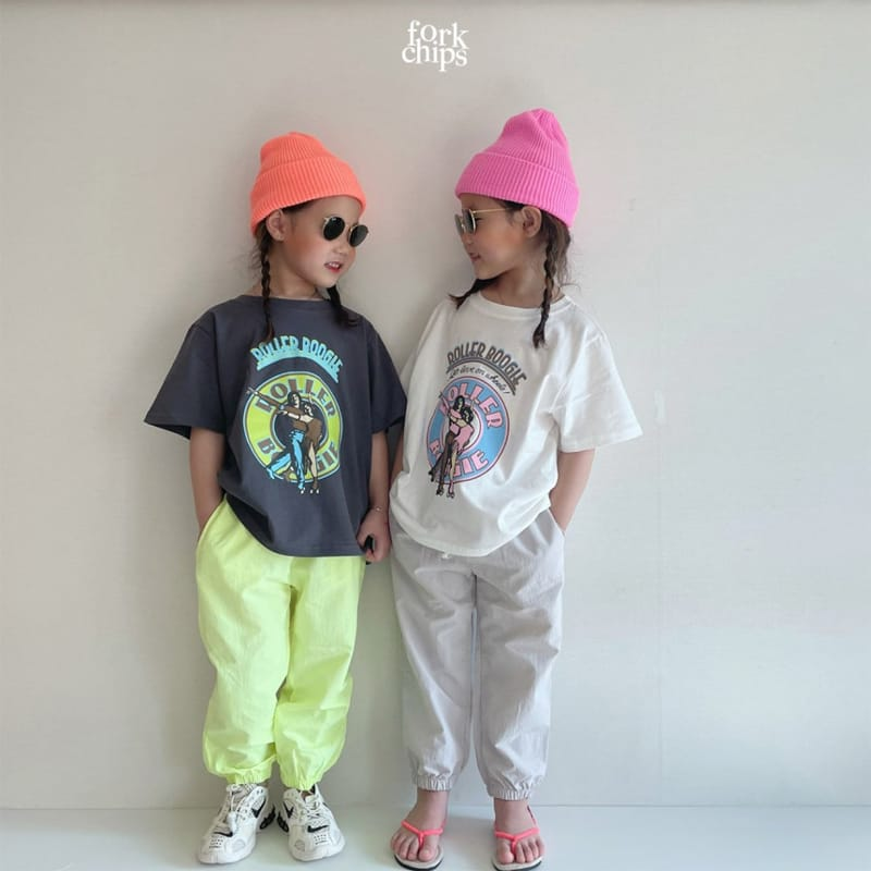 FORK CHIPS - Korean Children Fashion - #Kfashion4kids - Crack Jogger Pants - 11