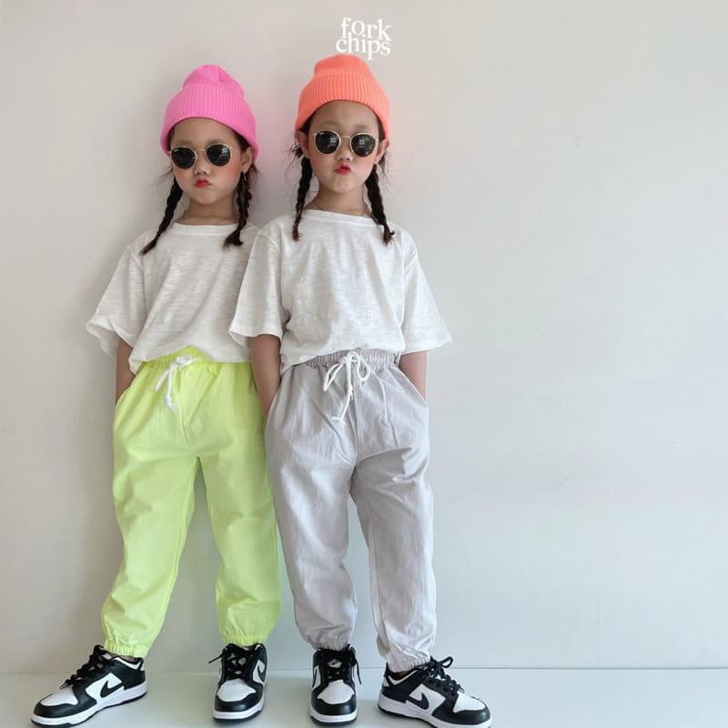 FORK CHIPS - Korean Children Fashion - #Kfashion4kids - Crack Jogger Pants - 12