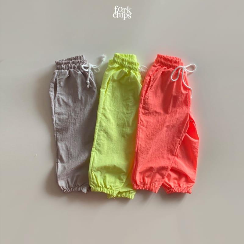 FORK CHIPS - Korean Children Fashion - #Kfashion4kids - Crack Jogger Pants - 2