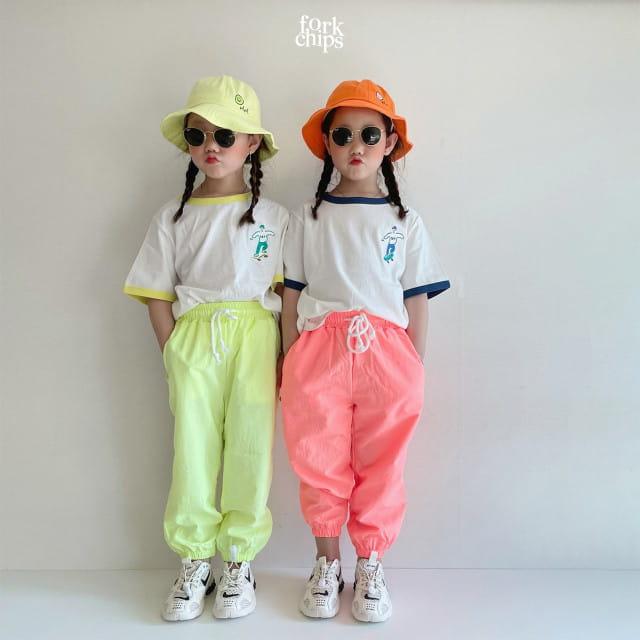 FORK CHIPS - BRAND - Korean Children Fashion - #Kfashion4kids - Crack Jogger Pants