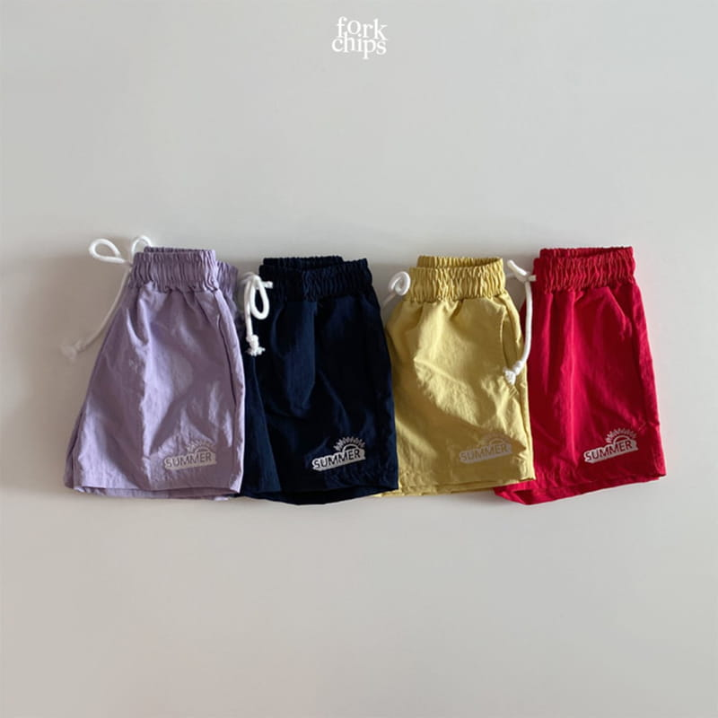 FORK CHIPS - Korean Children Fashion - #Kfashion4kids - Summer Runner Pants