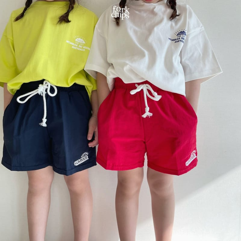 FORK CHIPS - Korean Children Fashion - #Kfashion4kids - Summer Runner Pants - 8