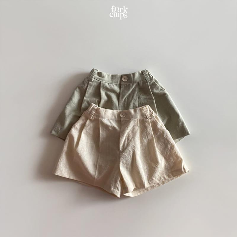 FORK CHIPS - Korean Children Fashion - #Kfashion4kids - Seasoning Half Wide Pants
