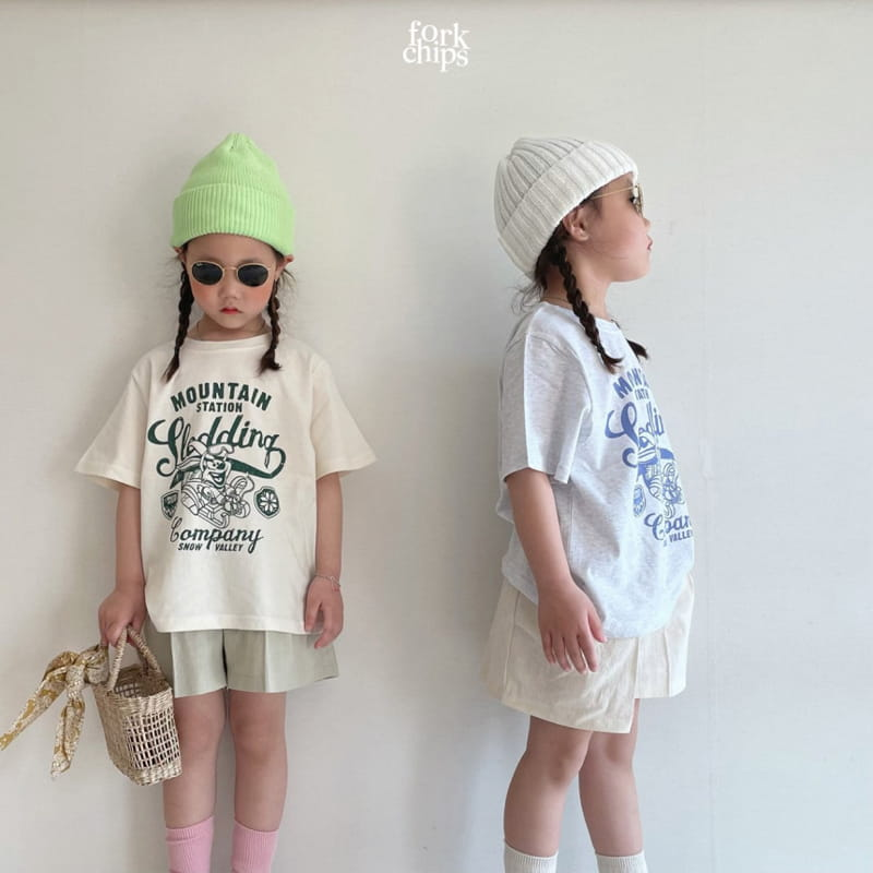 FORK CHIPS - Korean Children Fashion - #Kfashion4kids - Seasoning Half Wide Pants - 10
