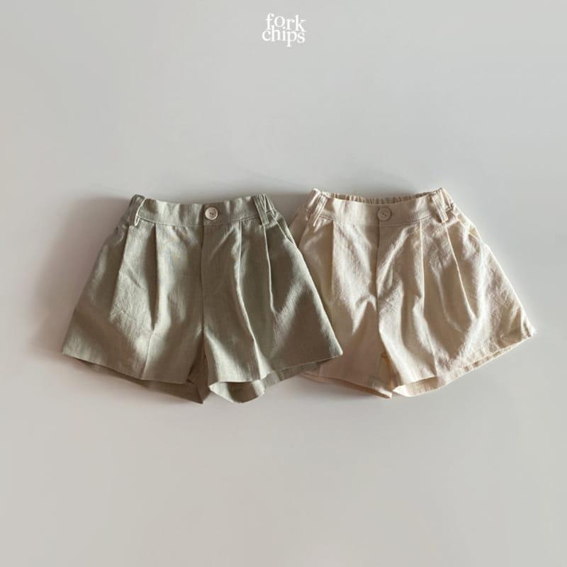 FORK CHIPS - Korean Children Fashion - #Kfashion4kids - Seasoning Half Wide Pants - 2