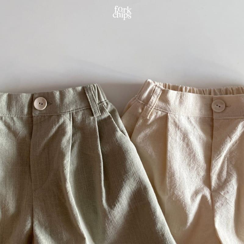 FORK CHIPS - Korean Children Fashion - #Kfashion4kids - Seasoning Half Wide Pants - 3