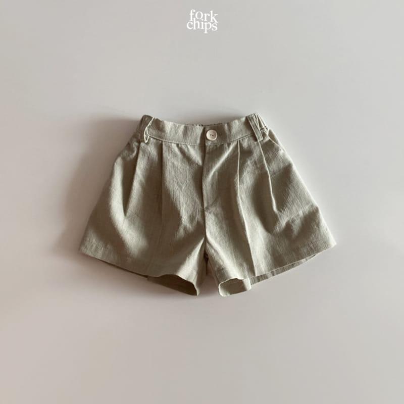 FORK CHIPS - Korean Children Fashion - #Kfashion4kids - Seasoning Half Wide Pants - 5