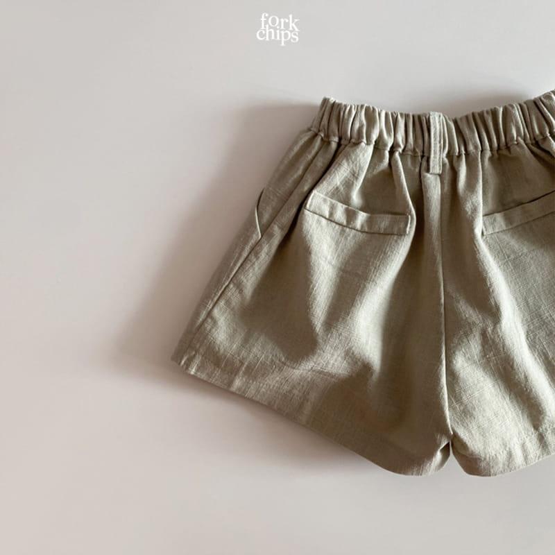 FORK CHIPS - Korean Children Fashion - #Kfashion4kids - Seasoning Half Wide Pants - 6