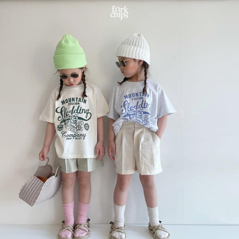 FORK CHIPS - Korean Children Fashion - #Kfashion4kids - Seasoning Half Wide Pants - 7