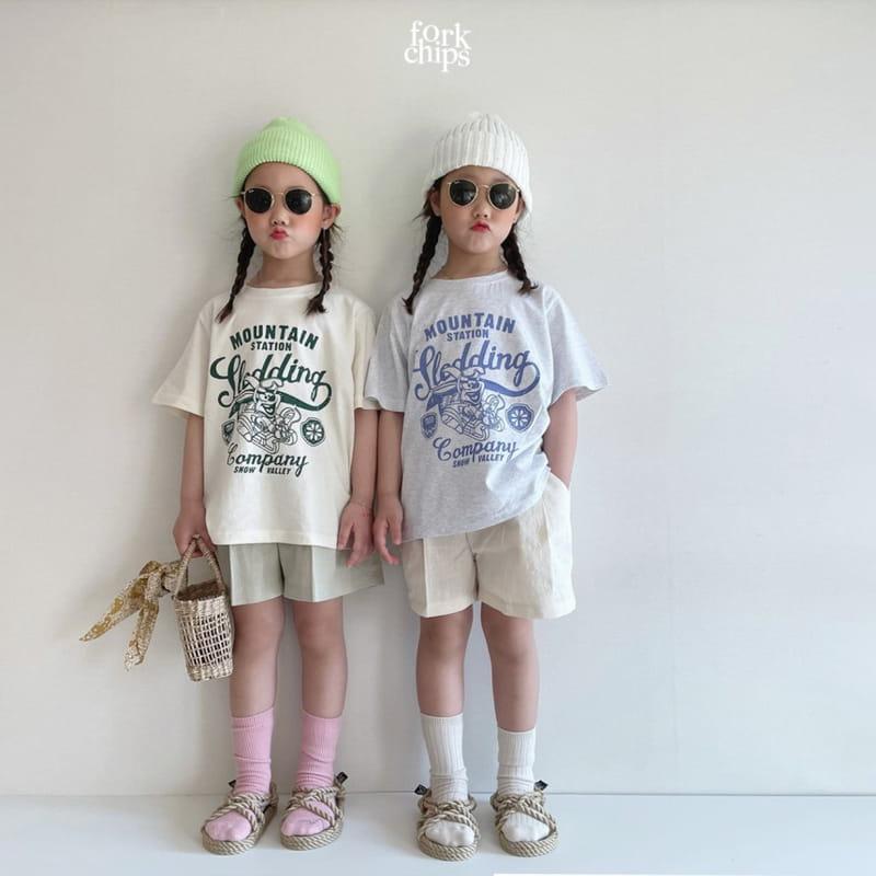FORK CHIPS - Korean Children Fashion - #Kfashion4kids - Seasoning Half Wide Pants - 8