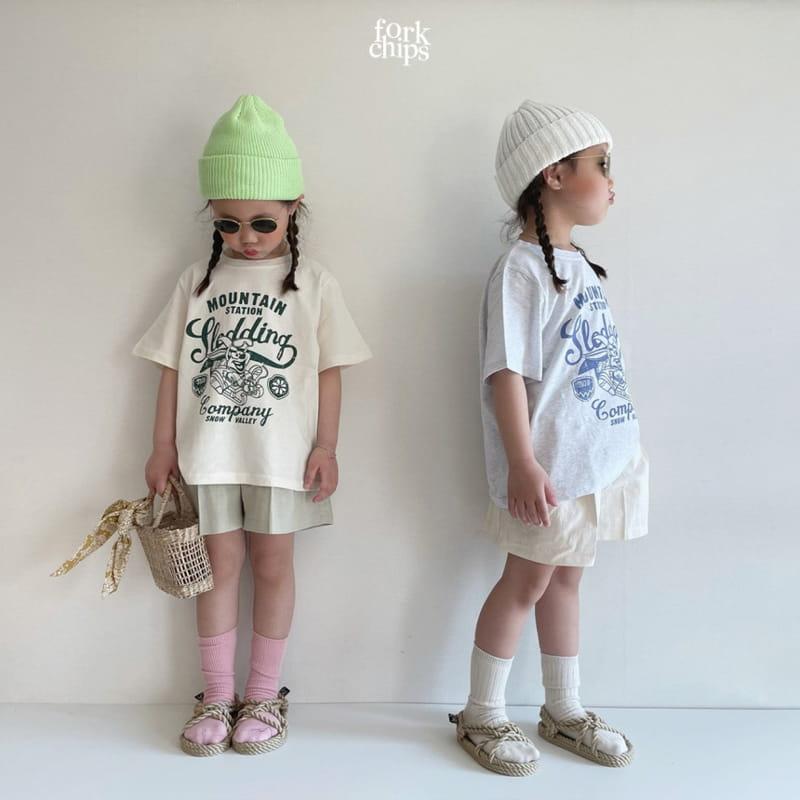 FORK CHIPS - Korean Children Fashion - #Kfashion4kids - Seasoning Half Wide Pants - 9