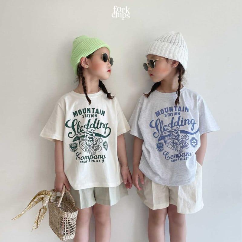 FORK CHIPS - Korean Children Fashion - #Kfashion4kids - Burney Tee - 10