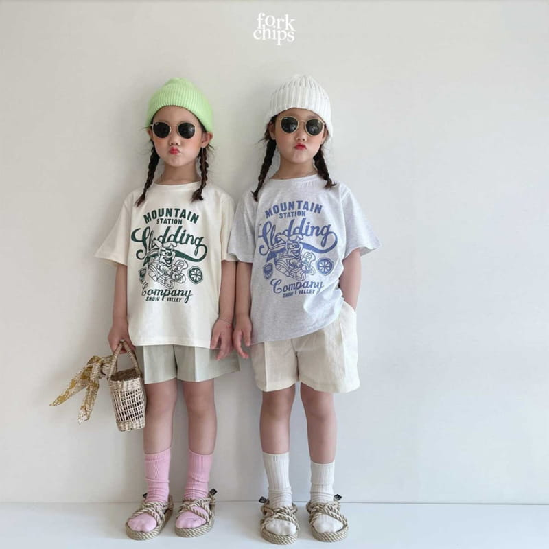FORK CHIPS - Korean Children Fashion - #Kfashion4kids - Burney Tee - 8