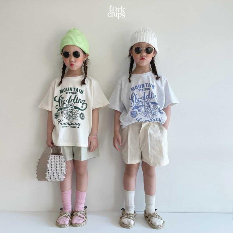 FORK CHIPS - Korean Children Fashion - #Kfashion4kids - Burney Tee - 9