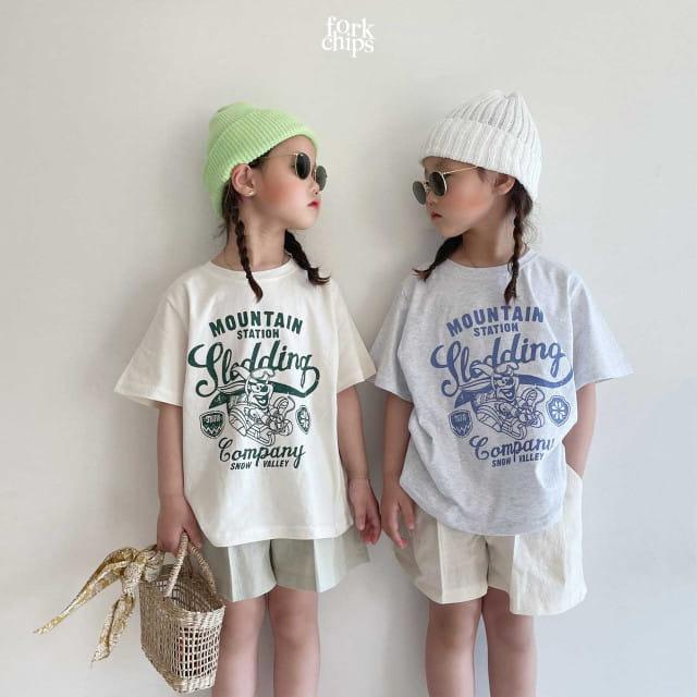 FORK CHIPS - BRAND - Korean Children Fashion - #Kfashion4kids - Burney Tee