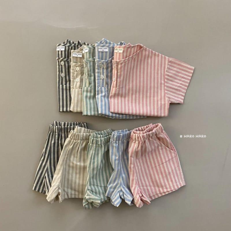 HARO HARO - Korean Children Fashion - #Kfashion4kids - Wilds Stripes Top Bottom Set - 4