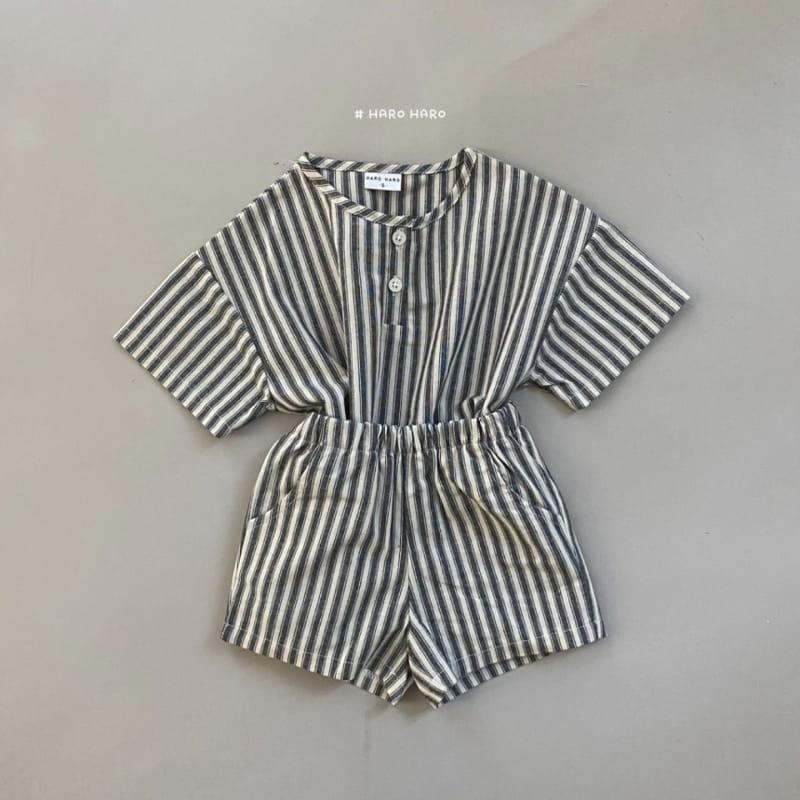 HARO HARO - Korean Children Fashion - #Kfashion4kids - Wilds Stripes Top Bottom Set - 6