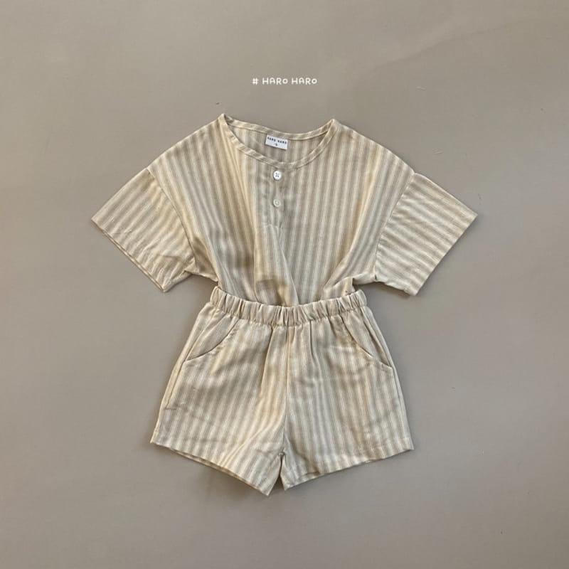HARO HARO - Korean Children Fashion - #Kfashion4kids - Wilds Stripes Top Bottom Set - 7