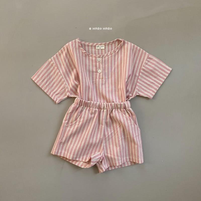 HARO HARO - Korean Children Fashion - #Kfashion4kids - Wilds Stripes Top Bottom Set - 8