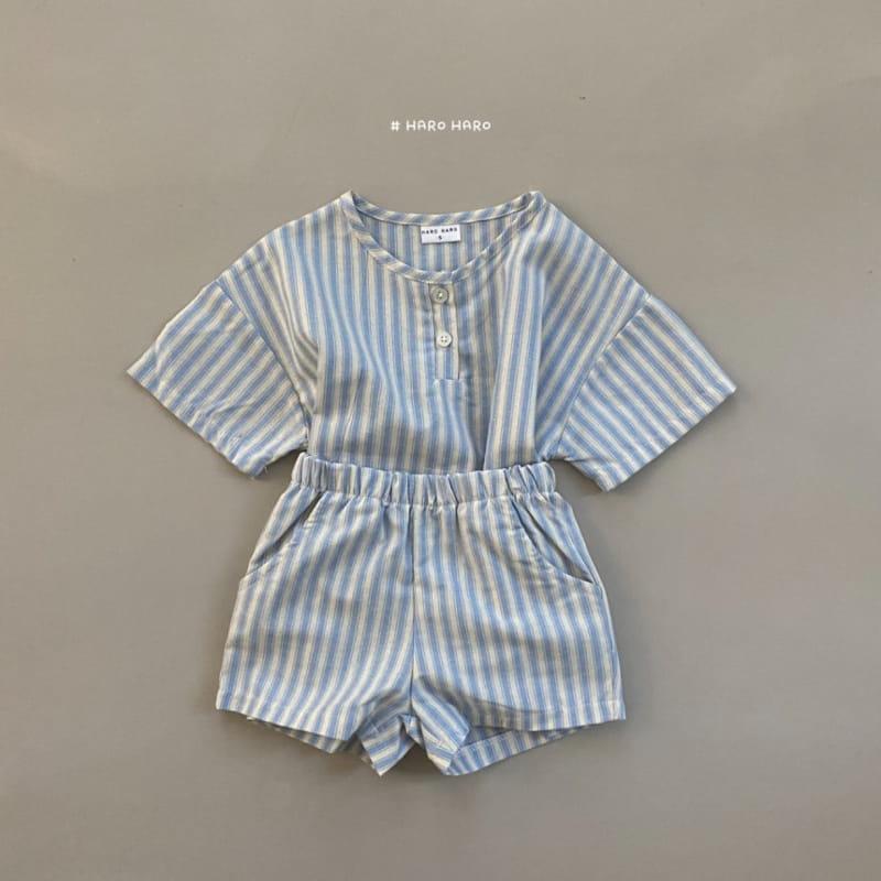 HARO HARO - Korean Children Fashion - #Kfashion4kids - Wilds Stripes Top Bottom Set - 9