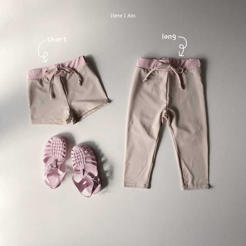 HERE I AM - Korean Children Fashion - #Kfashion4kids - Barney Rashguard Top Shorts Set - 2