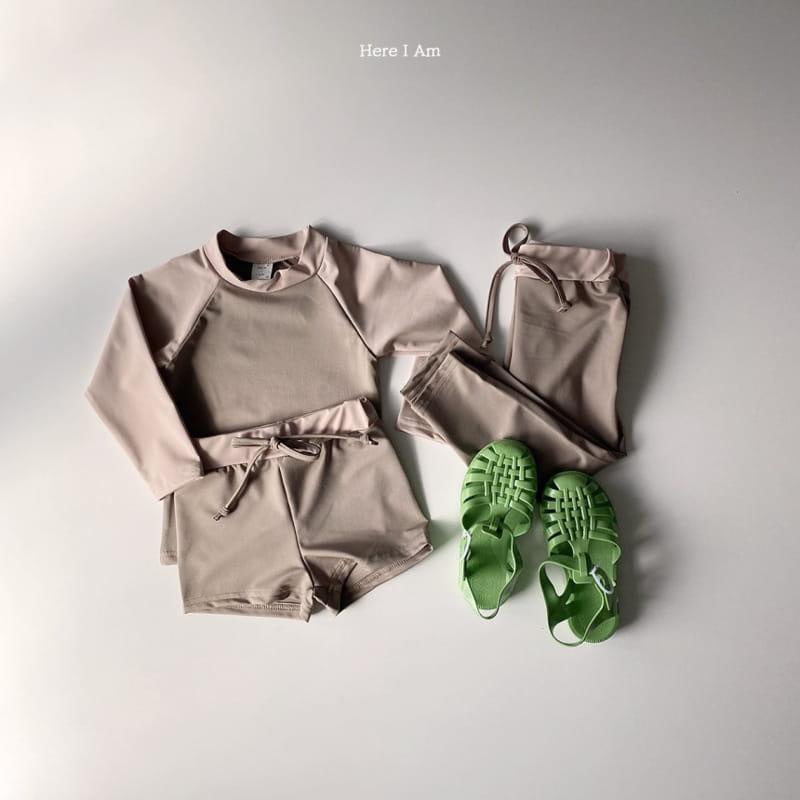 HERE I AM - Korean Children Fashion - #Kfashion4kids - Barney Rashguard Top Shorts Set - 5