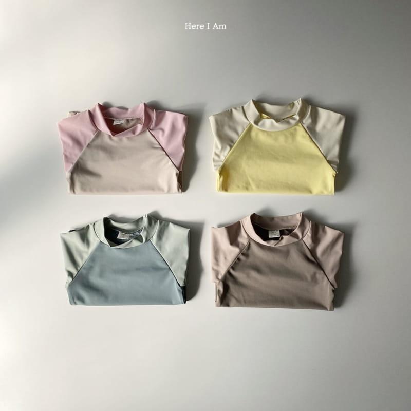 HERE I AM - Korean Children Fashion - #Kfashion4kids - Barney Rashguard Top Shorts Set - 8