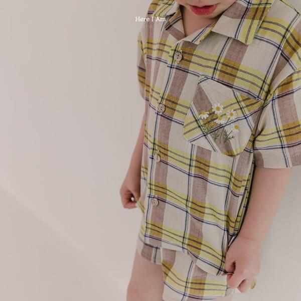 HERE I AM - Korean Children Fashion - #Kfashion4kids - Croiffle Check Top Bottom Set - 3