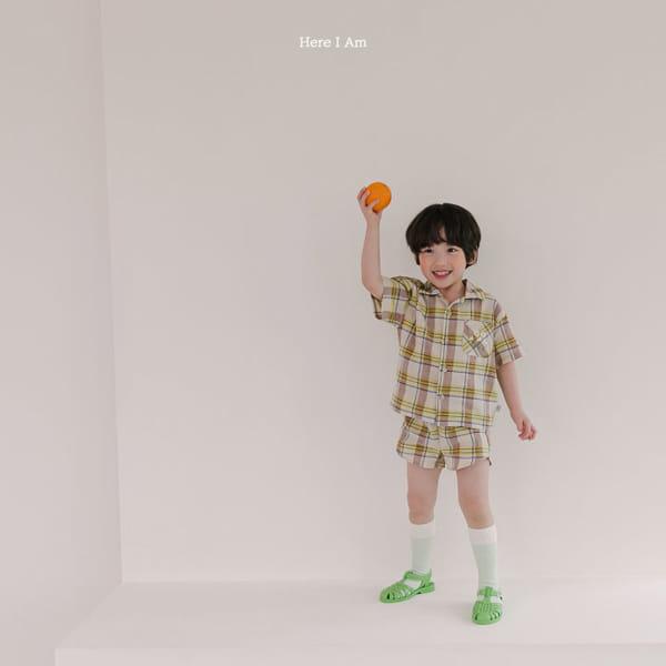 HERE I AM - Korean Children Fashion - #Kfashion4kids - Croiffle Check Top Bottom Set - 4