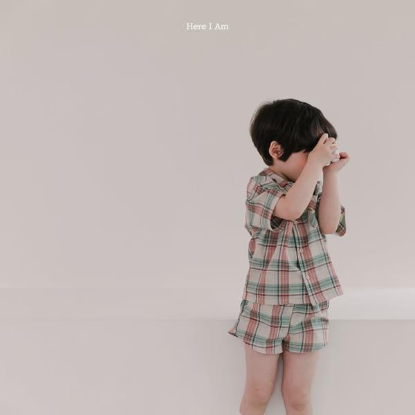 HERE I AM - Korean Children Fashion - #Kfashion4kids - Croiffle Check Top Bottom Set - 6