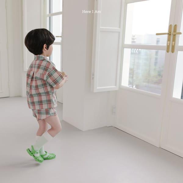HERE I AM - Korean Children Fashion - #Kfashion4kids - Croiffle Check Top Bottom Set - 7