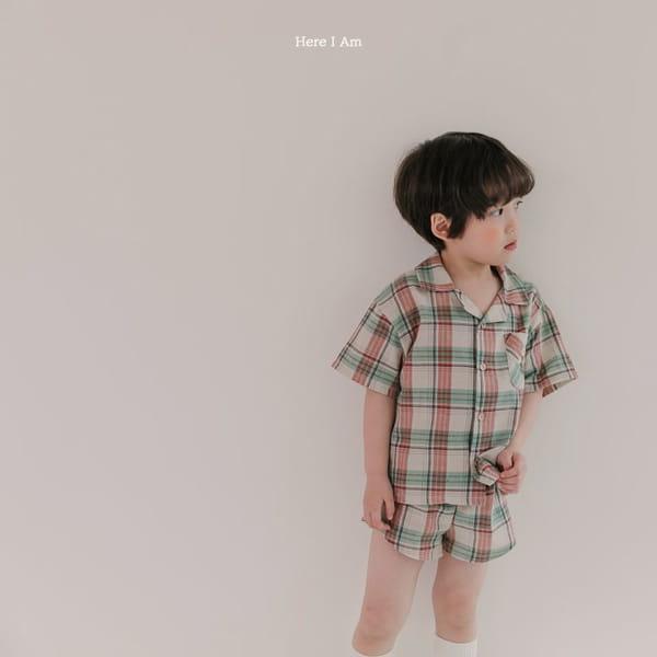 HERE I AM - Korean Children Fashion - #Kfashion4kids - Croiffle Check Top Bottom Set - 8