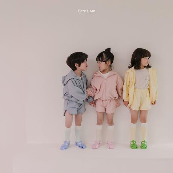 HERE I AM - Korean Children Fashion - #Kfashion4kids - Cos Anorak Bottom Pouch Set - 3