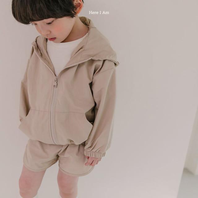 HERE I AM - BRAND - Korean Children Fashion - #Kfashion4kids - Cos Anorak Bottom Pouch Set