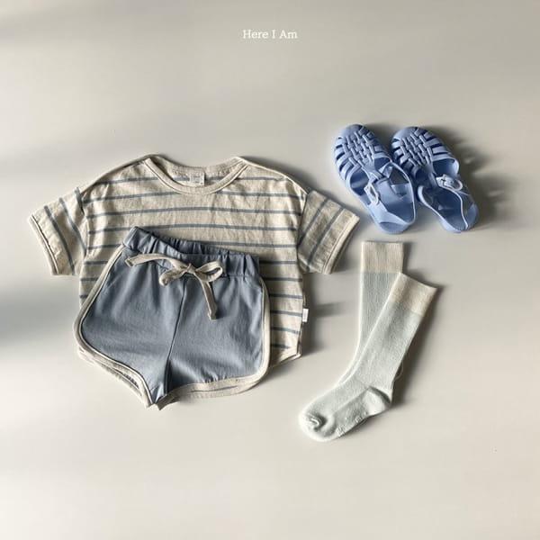 HERE I AM - Korean Children Fashion - #Kfashion4kids - Willy Stripes Top Bottom Set - 10
