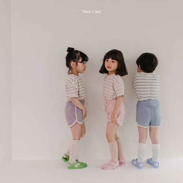 HERE I AM - Korean Children Fashion - #Kfashion4kids - Willy Stripes Top Bottom Set - 2
