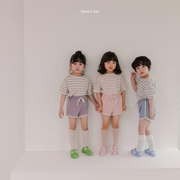 HERE I AM - Korean Children Fashion - #Kfashion4kids - Willy Stripes Top Bottom Set - 3