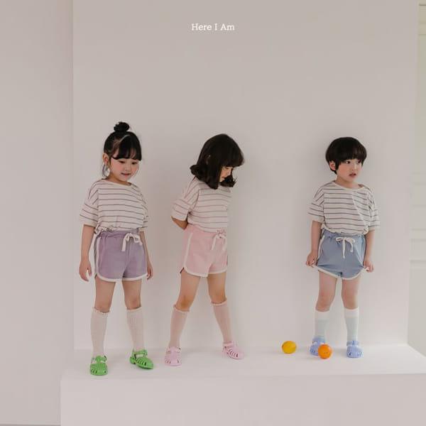 HERE I AM - Korean Children Fashion - #Kfashion4kids - Willy Stripes Top Bottom Set - 4