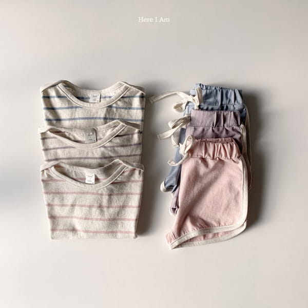 HERE I AM - Korean Children Fashion - #Kfashion4kids - Willy Stripes Top Bottom Set - 8