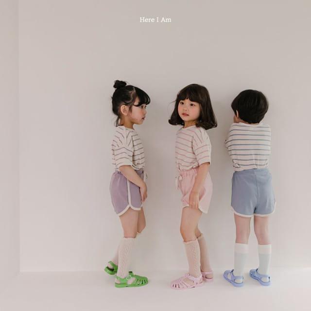 HERE I AM - BRAND - Korean Children Fashion - #Kfashion4kids - Willy Stripes Top Bottom Set