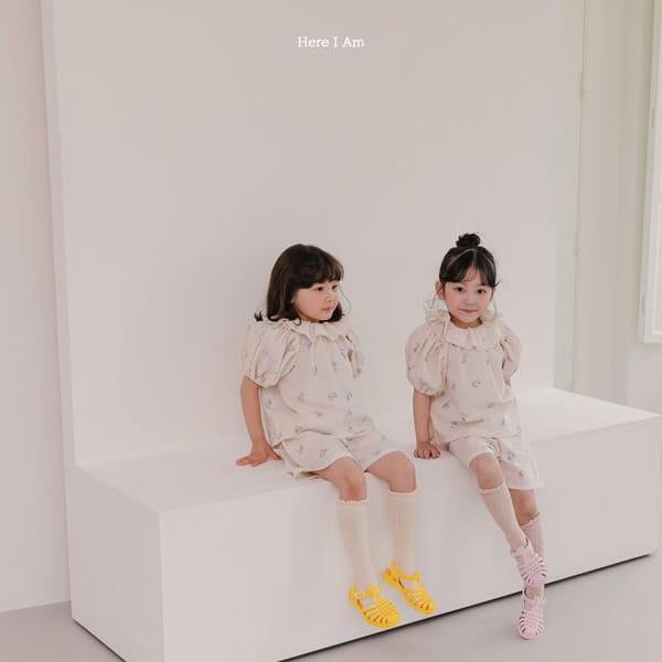 HERE I AM - Korean Children Fashion - #Kfashion4kids - Olivia Top Bottom Set - 3