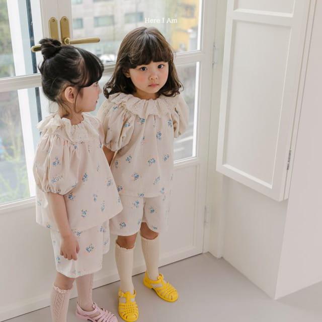 HERE I AM - BRAND - Korean Children Fashion - #Kfashion4kids - Olivia Top Bottom Set